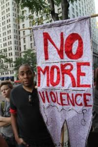 no more violece sign